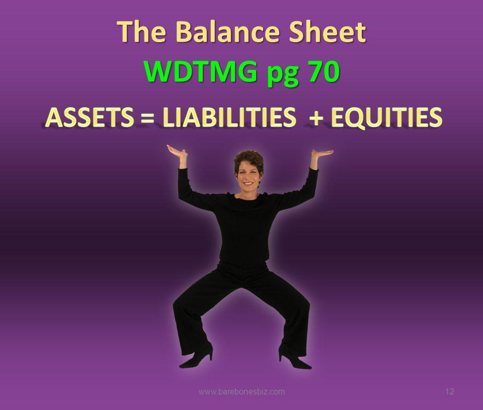 The Balance Sheet WDTMG pg 70 12www.barebonesbiz.com