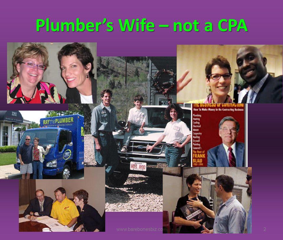 Plumber's Wife – not a CPA 2www.barebonesbiz.com