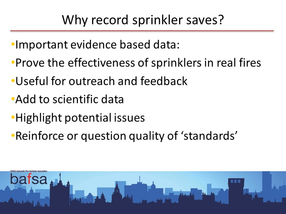 Why record sprinkler saves.
