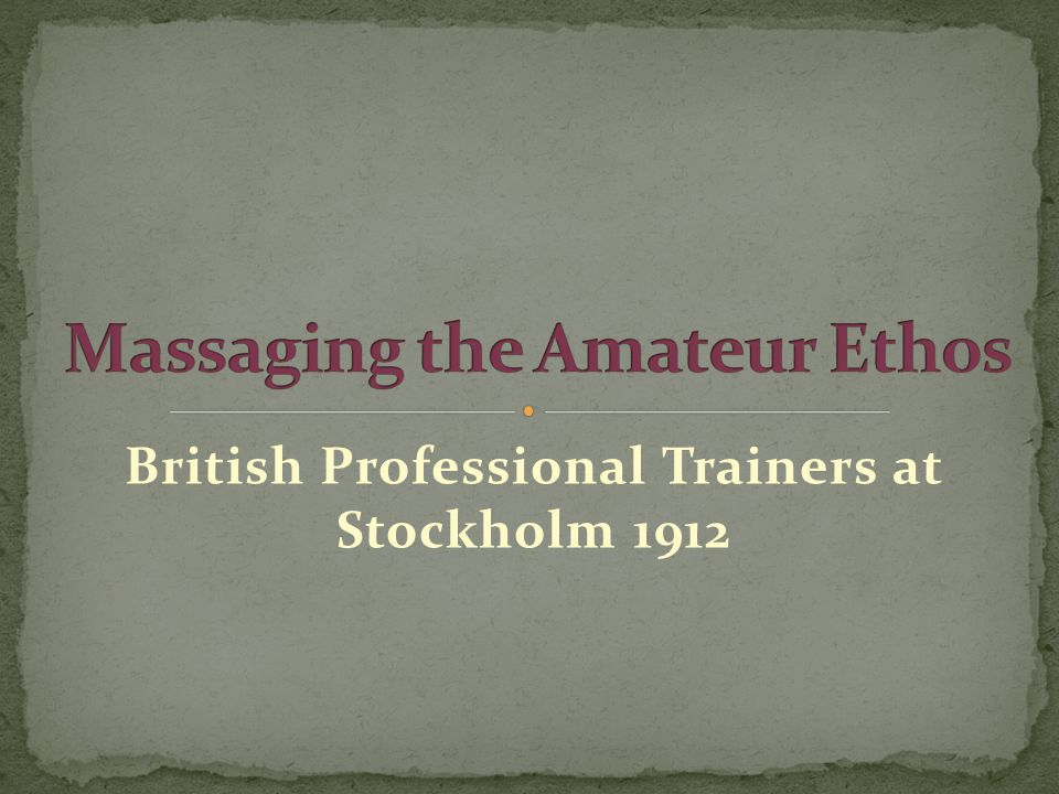 British Professional Trainers at Stockholm 1912