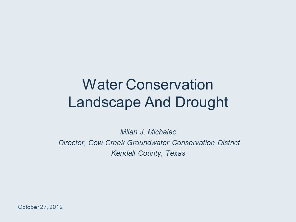 Water Conservation Landscape And Drought Milan J.