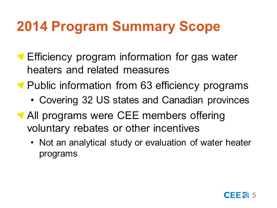 16 A Couple of Final Thoughts Commercial program customers range widely in business size and use of hot water Unlike other categories of energy use, customer size and sophistication cannot predict water heating needs Often, the smallest, most difficult customers to reach use the greatest amount of hot water Food service and hospitality The complete CEE Program Summary is available at www.cee1.org