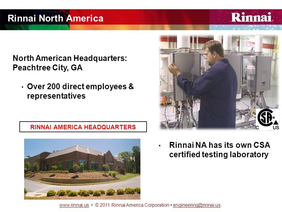 www.rinnai.uswww.rinnai.us © 2011 Rinnai America Corporation engineering@rinnai.usengineering@rinnai.us COST/SAVINGS CALCULATION