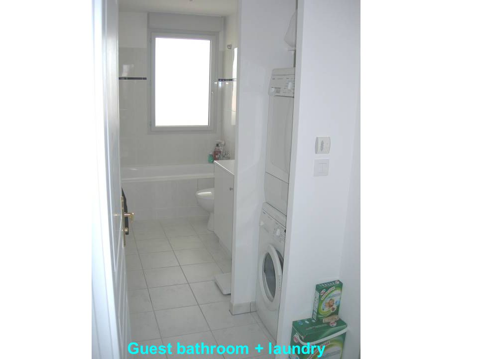 Guest bathroom + laundry