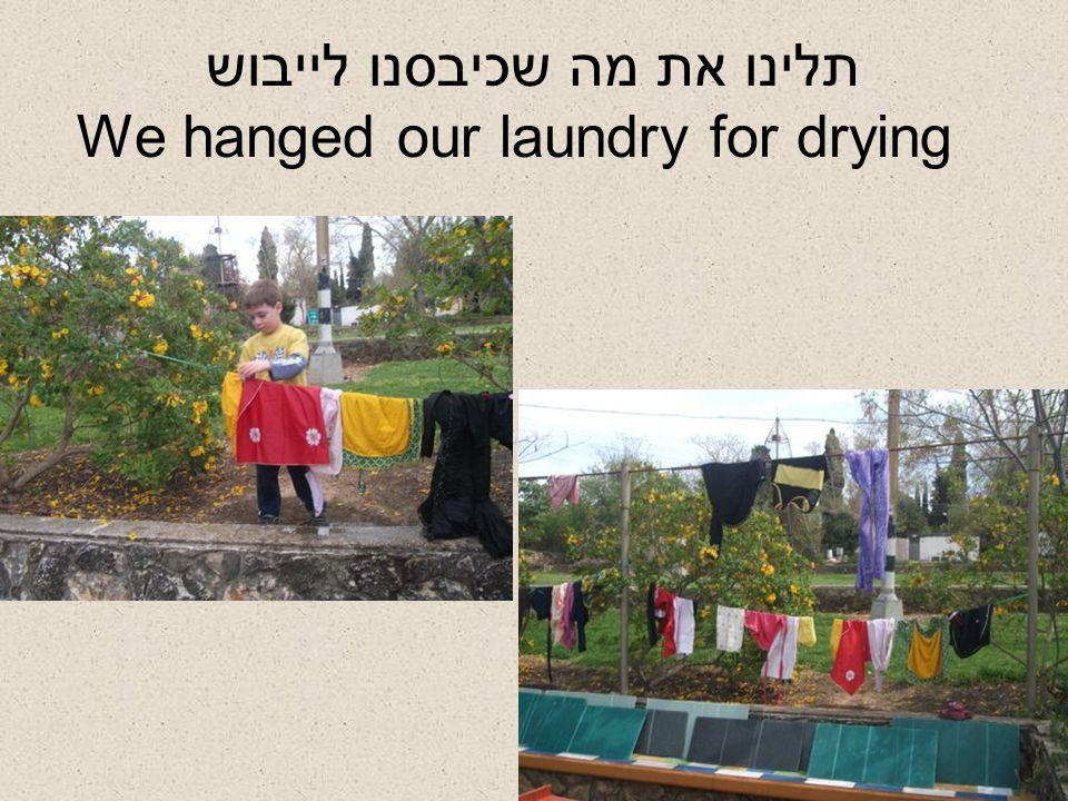תלינו את מה שכיבסנו לייבוש We hanged our laundry for drying