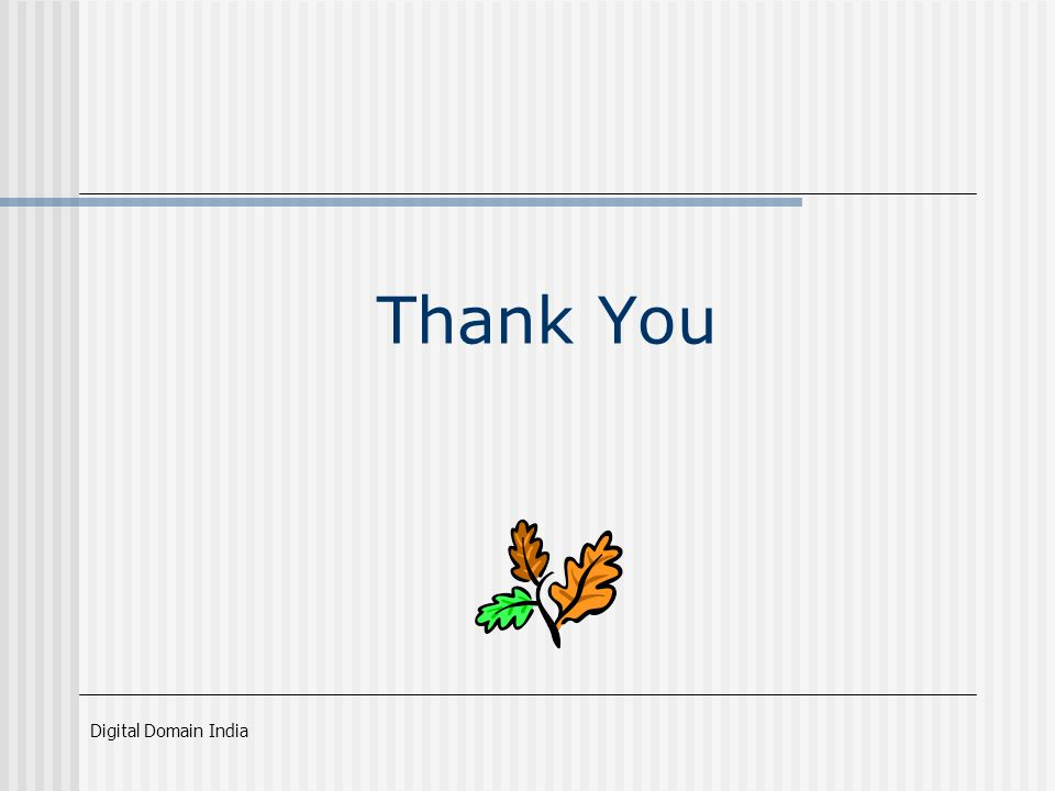 Digital Domain India Thank You
