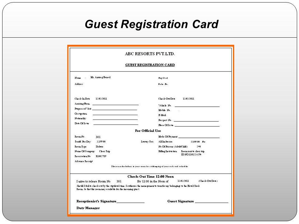 Guest Registration Card