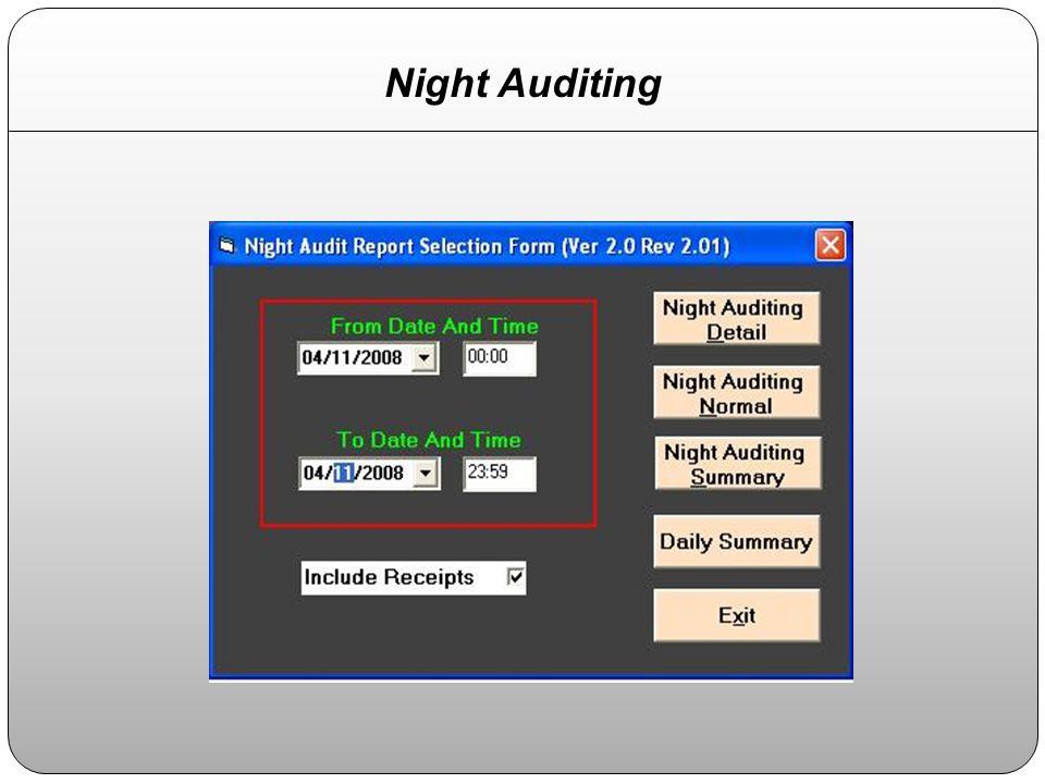 Night Auditing