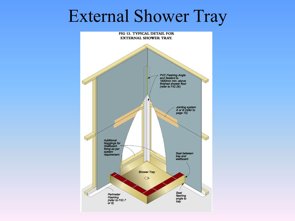 External Shower Tray