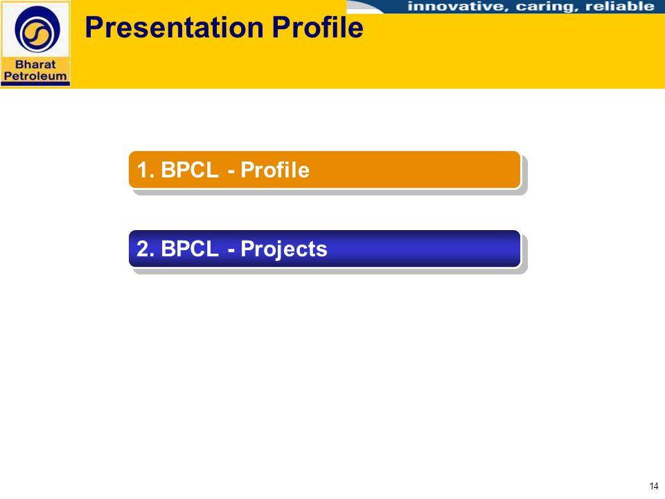 14 Presentation Profile 1. BPCL - Profile 2. BPCL - Projects