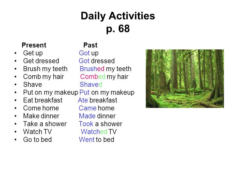 Daily Activities p.