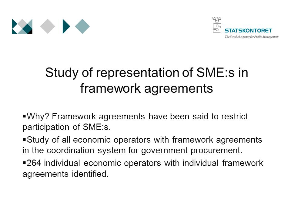 Study of representation of SME:s in framework agreements  Why.