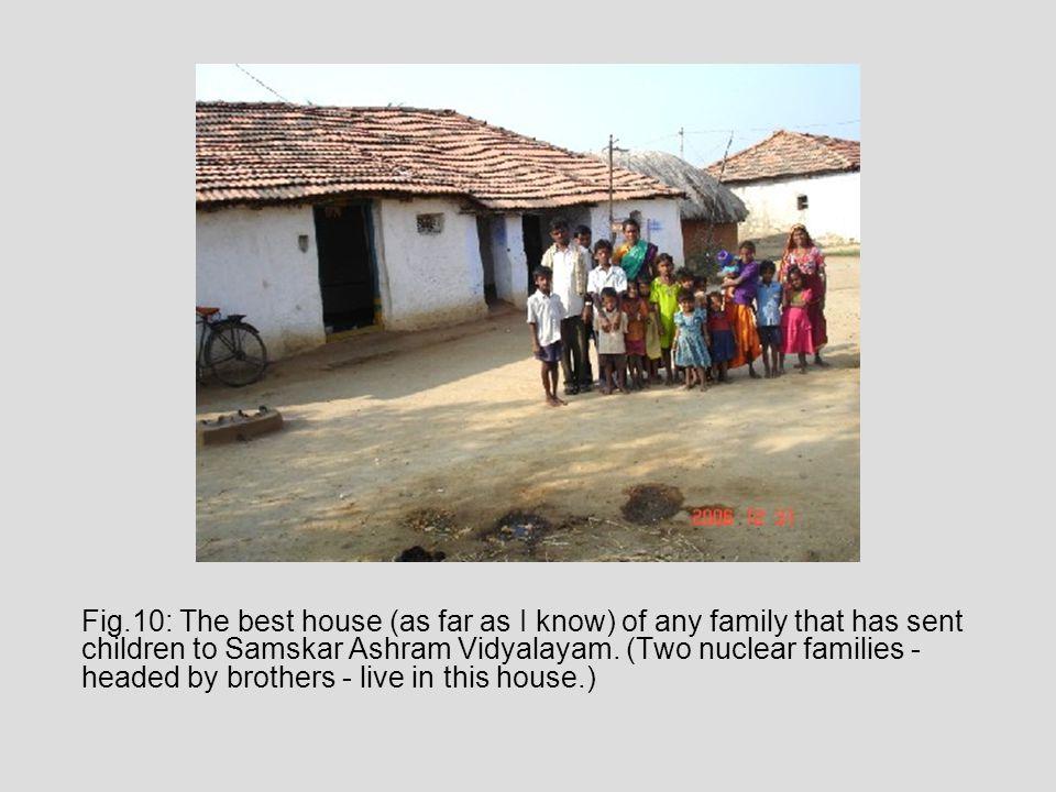 Fig.10: The best house (as far as I know) of any family that has sent children to Samskar Ashram Vidyalayam.