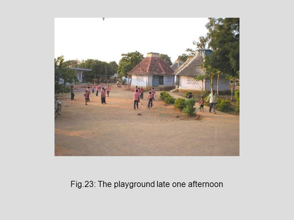 Fig.23: The playground late one afternoon