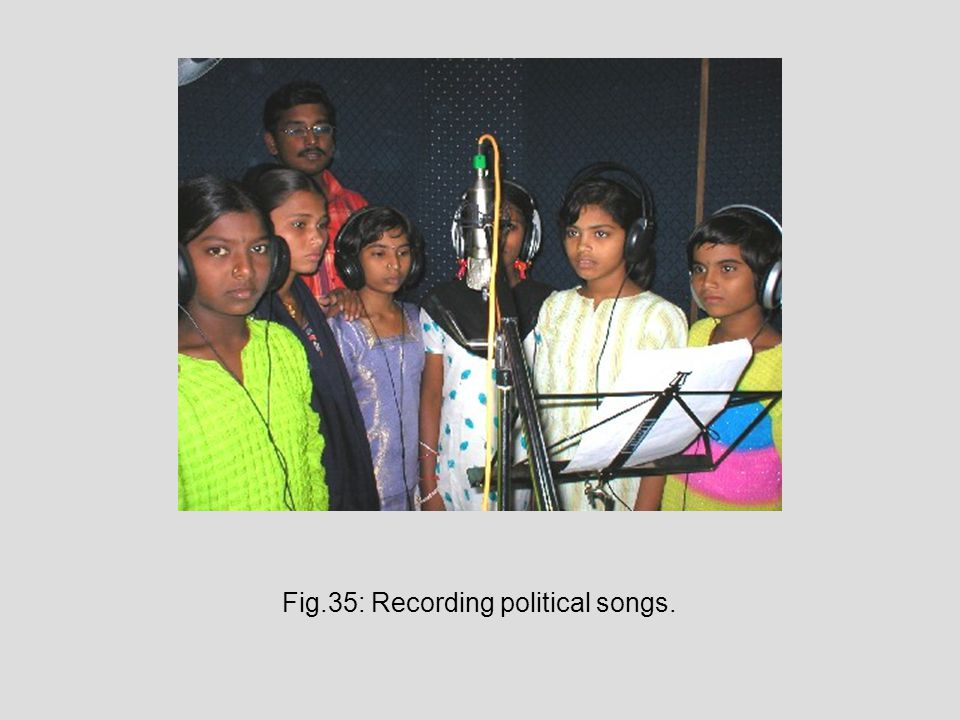 Fig.35: Recording political songs.