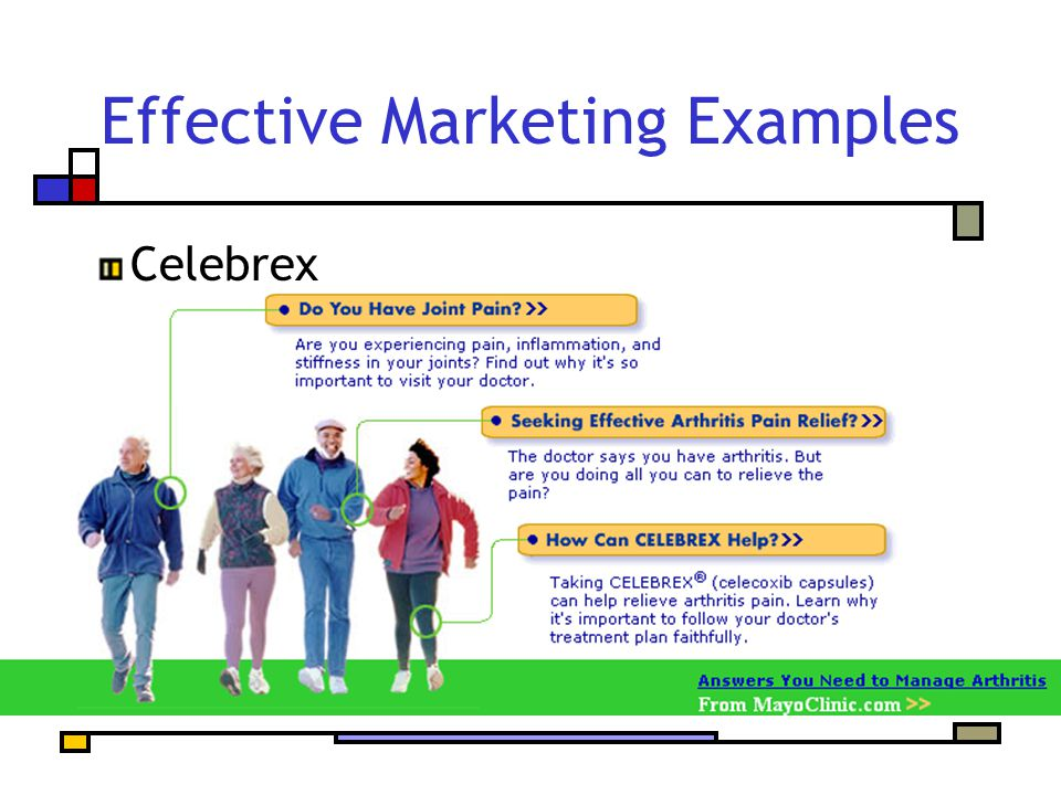 Effective Marketing Examples Celebrex