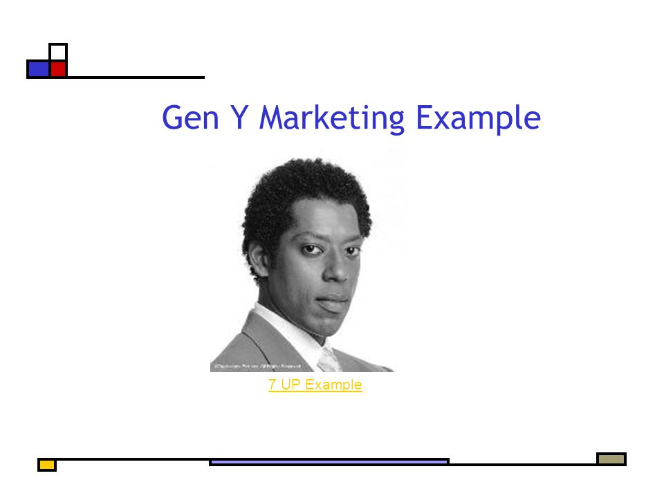 Gen Y Marketing Example 7 UP Example
