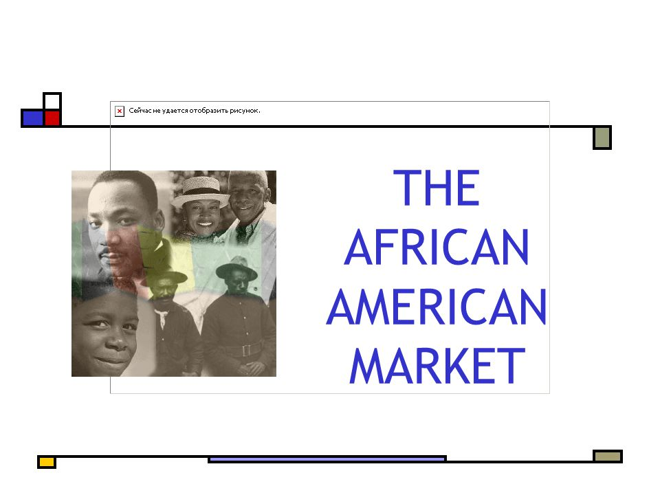 THE AFRICAN AMERICAN MARKET