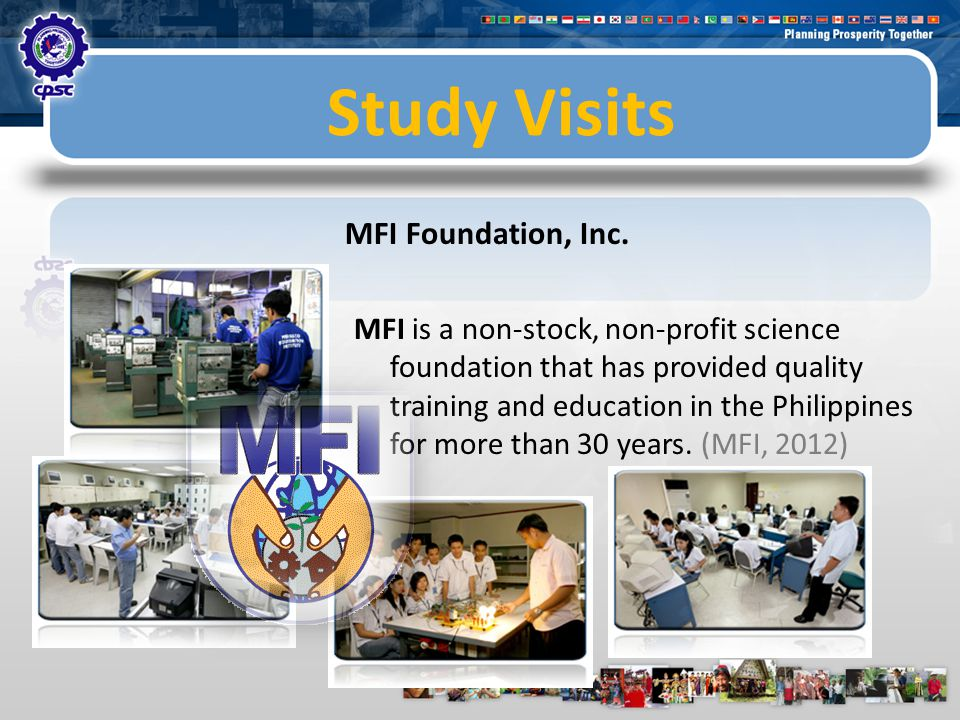 Study Visits MFI Foundation, Inc.