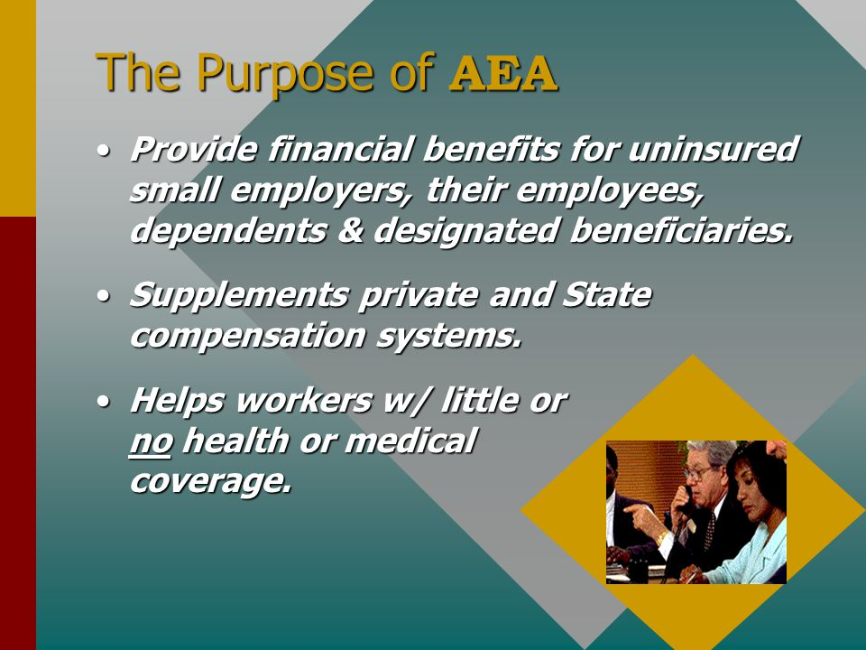 """AEA - Who Are We?? AMERICAN EMPLOYEES ASSOCIATION (""""AEA"""") is: AMERICAN EMPLOYEES ASSOCIATION (""""AEA"""") is: - A non-profit and State Voluntary Employees"""