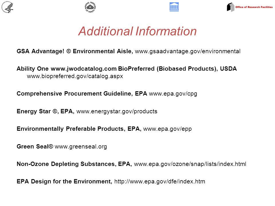 Additional Information GSA Advantage.