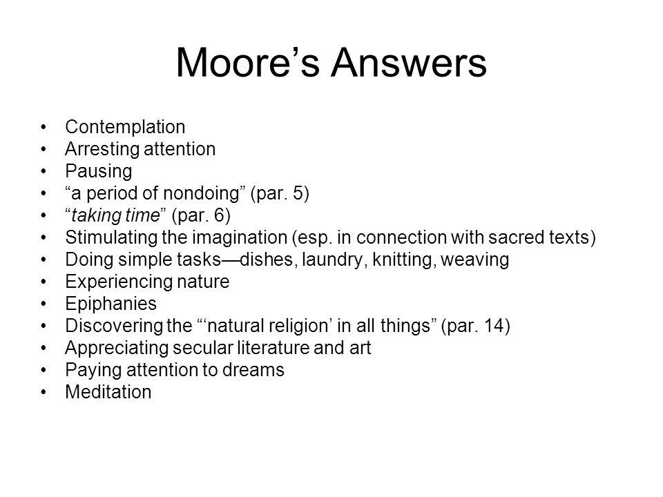 Moore's Assumptions Par.