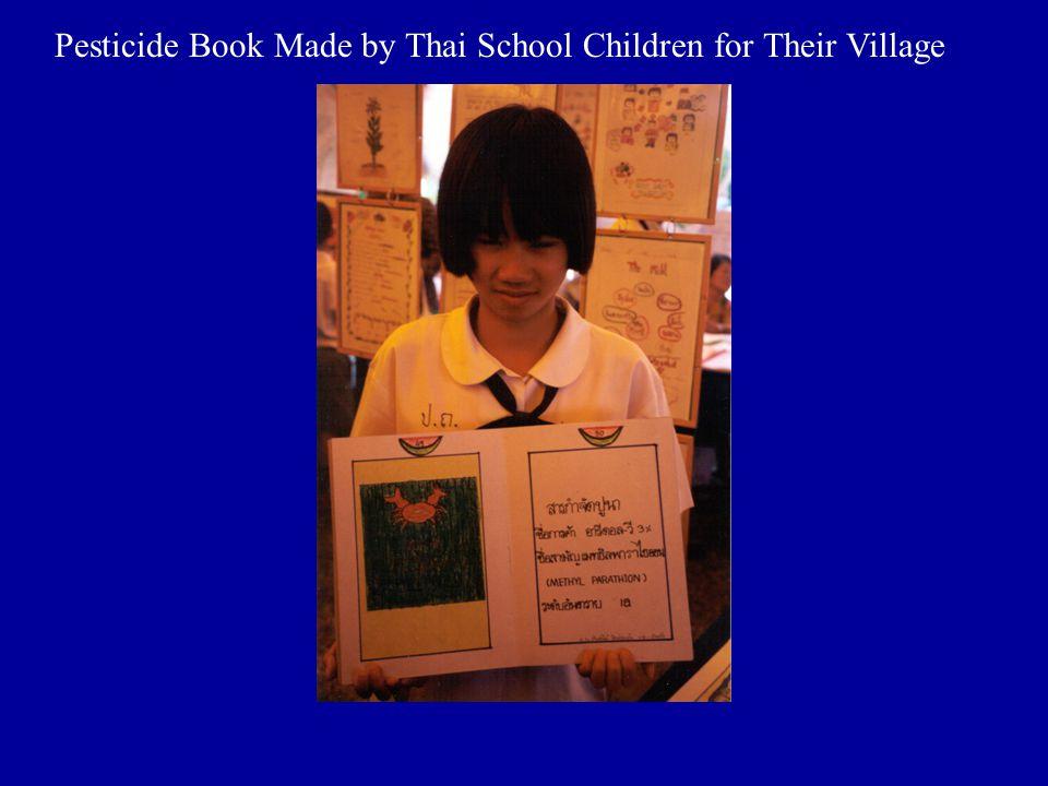 Pesticide Book Made by Thai School Children for Their Village