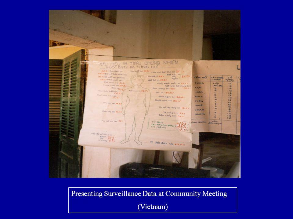 Presenting Surveillance Data at Community Meeting (Vietnam)
