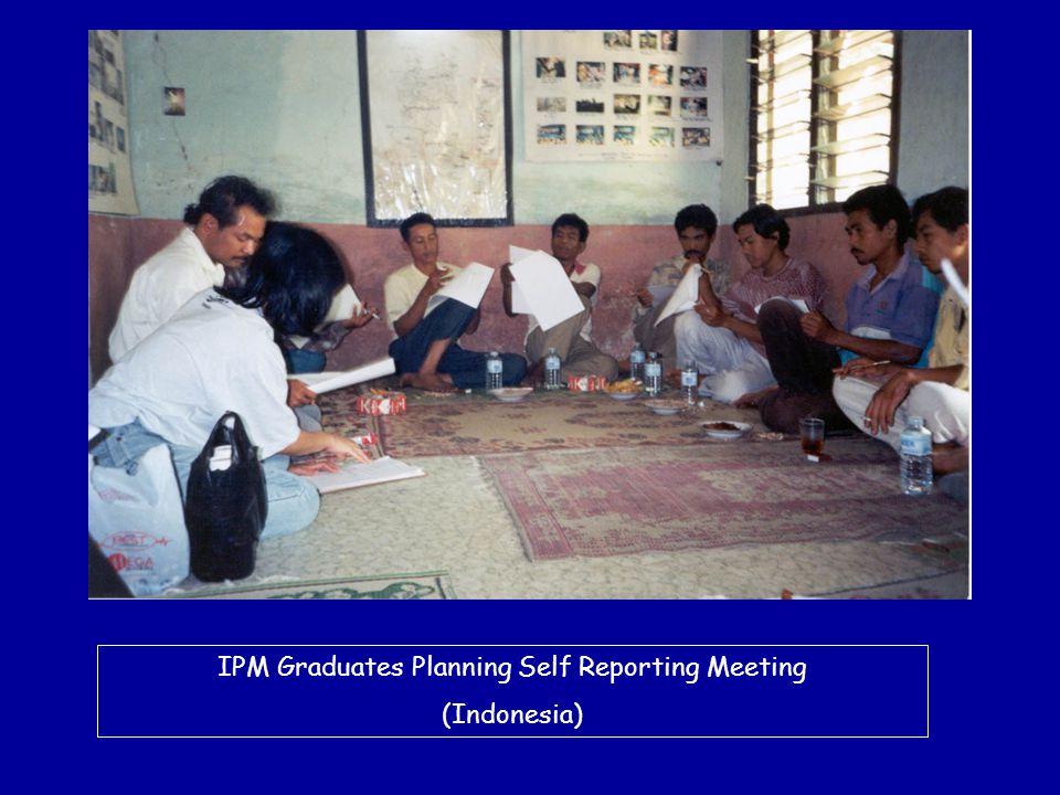 IPM Graduates Planning Self Reporting Meeting (Indonesia)