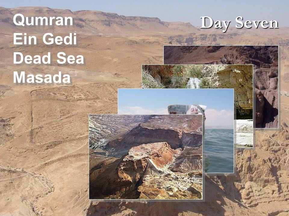 Day Seven Qumran Ein Gedi Dead Sea Masada Qumran Ein Gedi Dead Sea Masada