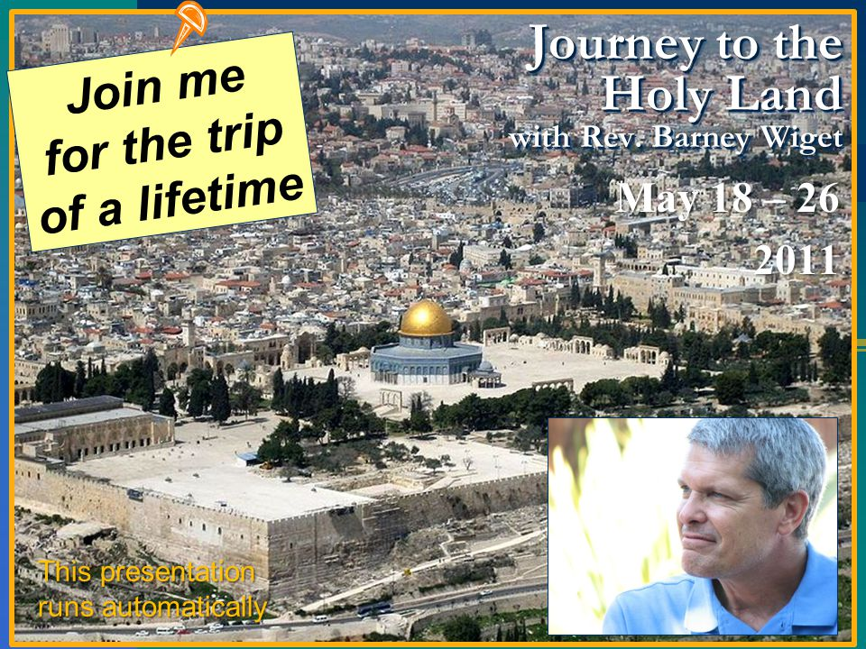 Journey to the Holy Land with Rev.