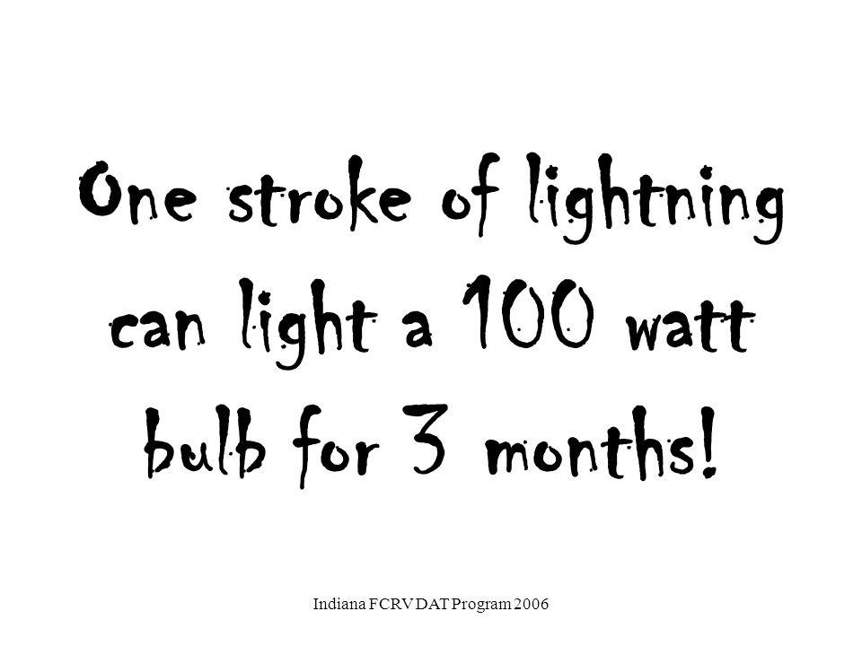 Some Statistics  100: number of lightning strikes/second.