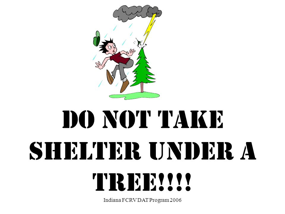 Your RV or Camper is not safe in lightning storms.