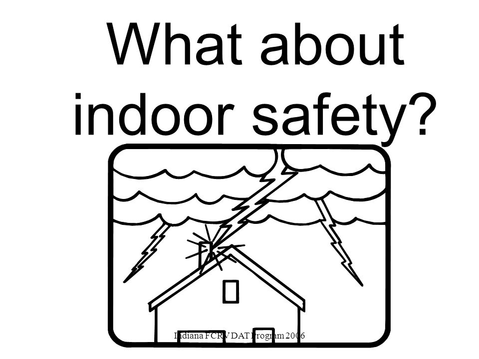 OUT-OF-DOORS IS THE MOST DANGEROUS PLACE TO BE DURING A LIGHTNING STORM Indiana FCRV DAT Program 2006