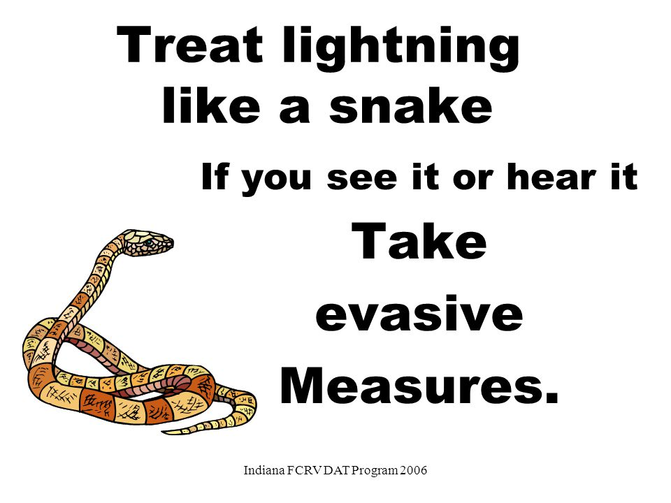 The 30-30 Rule If the time between lightning and thunder is 30 seconds or less, go to a safer location. If the lightning can't be seen, just hearing t