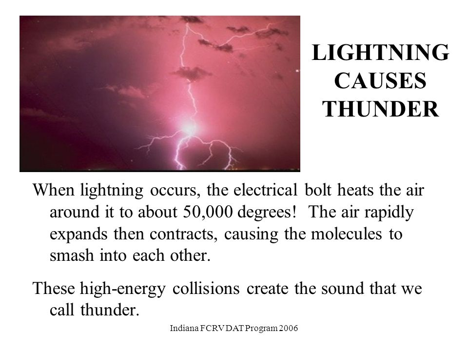 OPPOSITES ATTRACT When a thunderstorm builds, negative electrical charges develop within clouds. There are positively charged particles on the ground.
