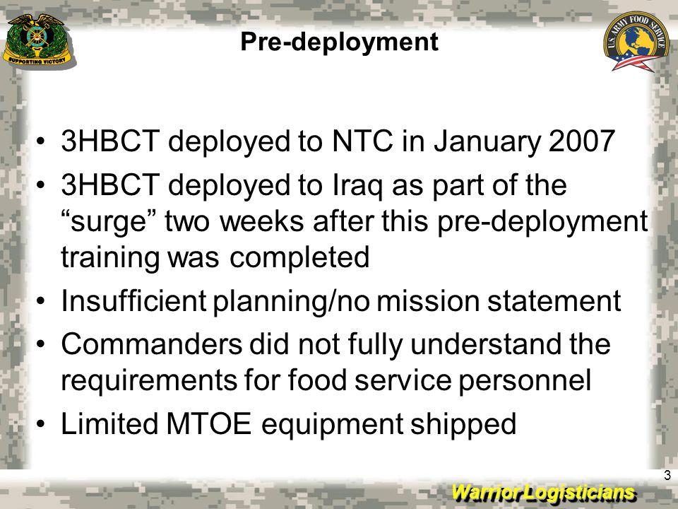 Warrior Logisticians 34 Improvements PB Assassin Dining Room Interior Port-o-Johns Newer, better reefers Contractor DFACCOP Salie Soakage Pit