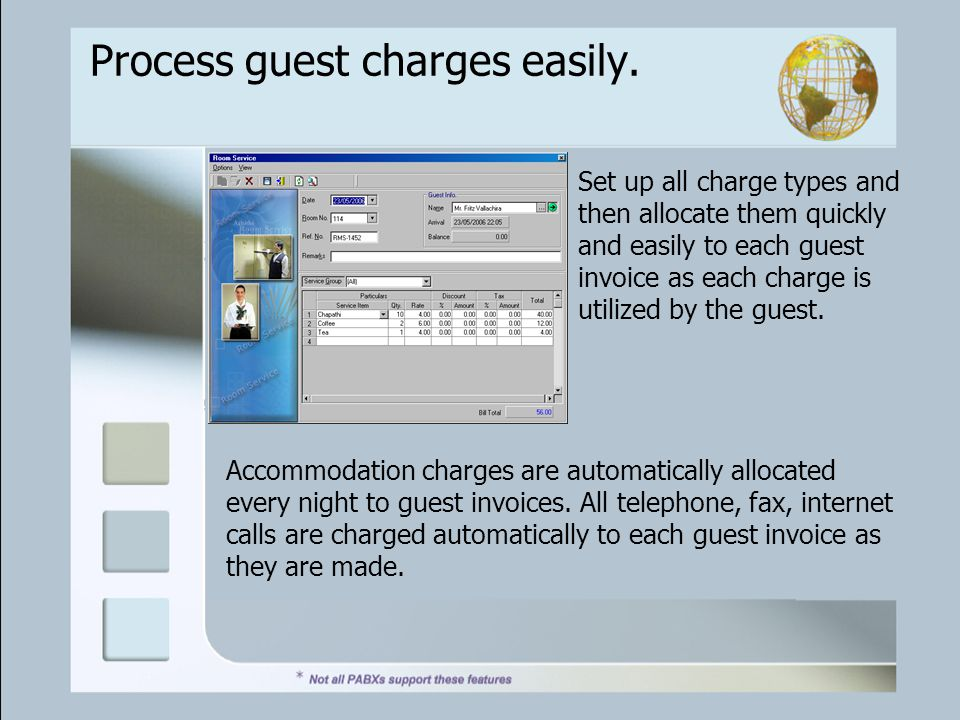 Process guest charges easily.