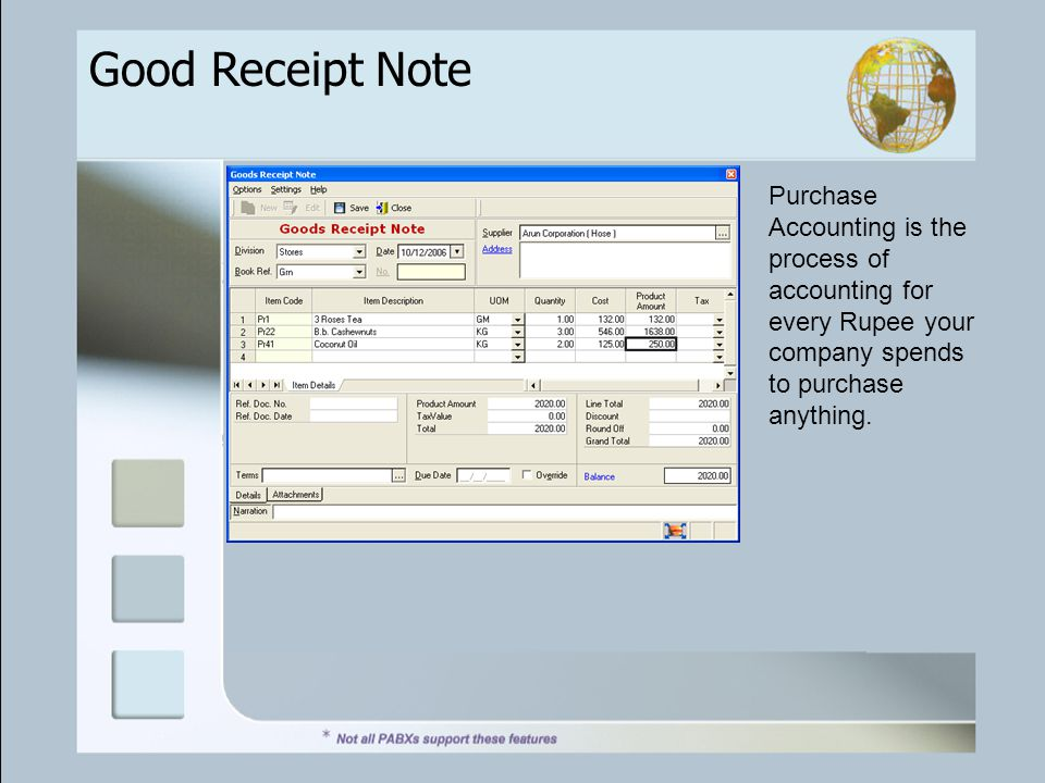 Good Receipt Note Purchase Accounting is the process of accounting for every Rupee your company spends to purchase anything.