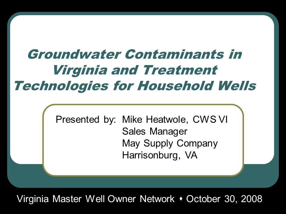 Common Water Problems Source Natural deposits Brackish water intrusion Salt water intrusion Treatment Reverse osmosis Distillation Deionization by ion exchange Taste