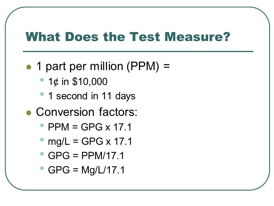What Does the Test Measure.