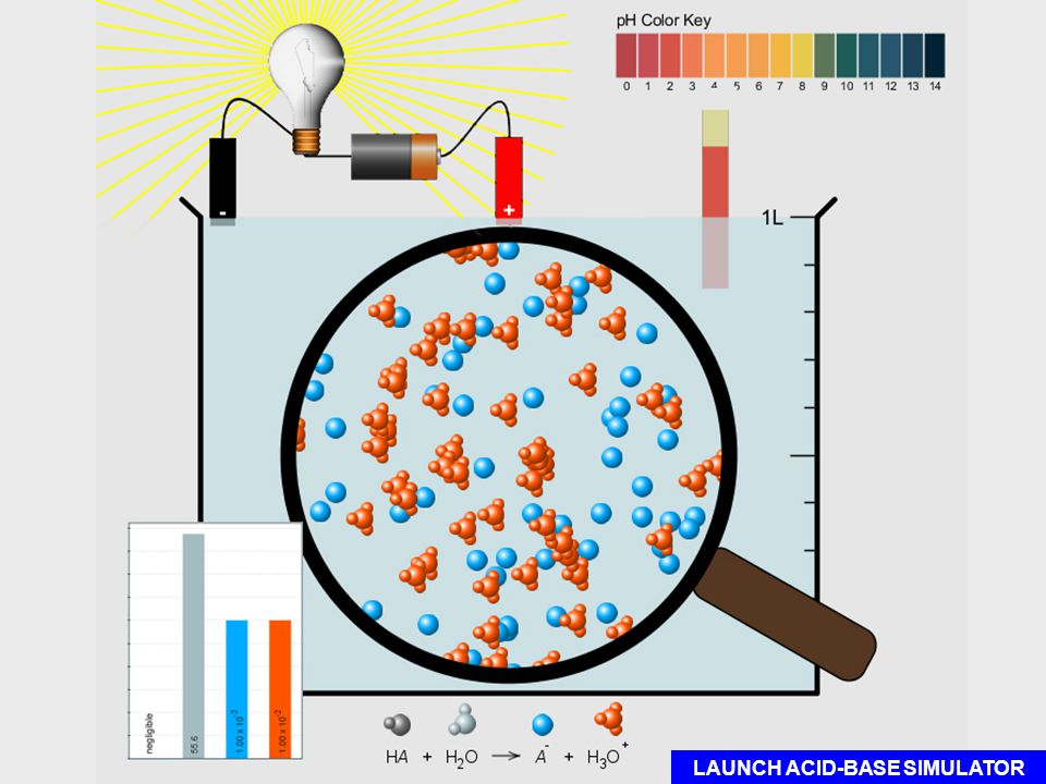 Copyright 2011 CreativeChemistryLessons.comCreativeChemistryLessons.com LAUNCH ACID-BASE SIMULATOR