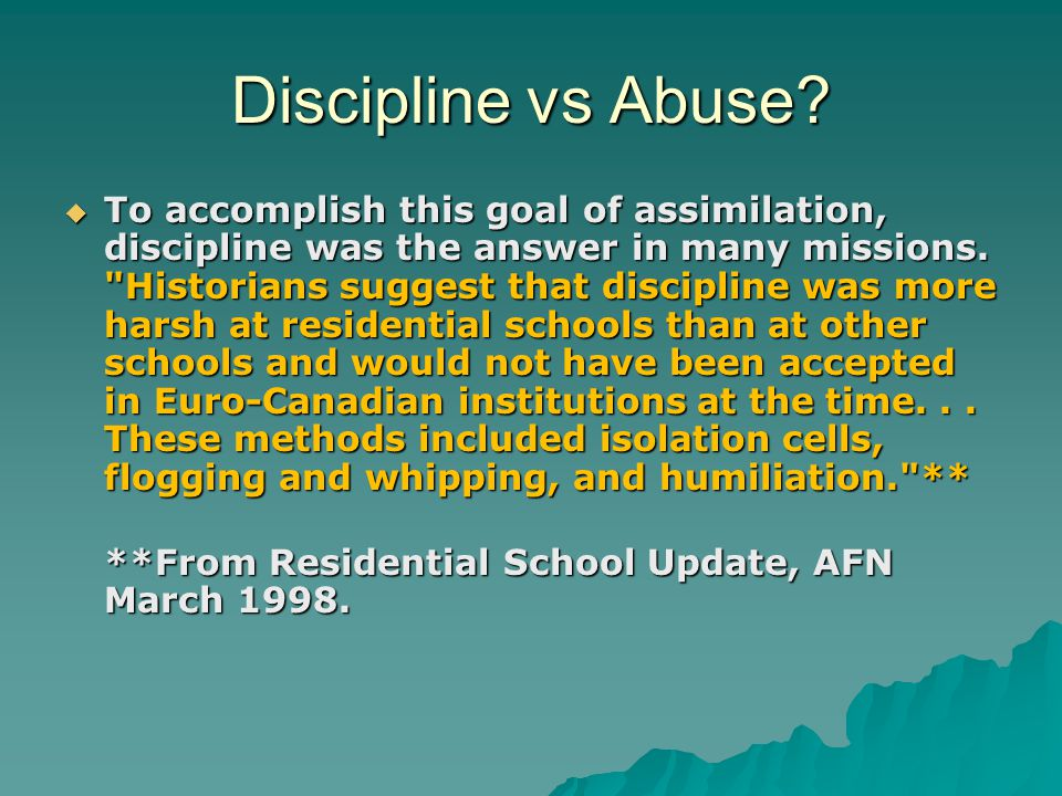 Discipline vs Abuse.