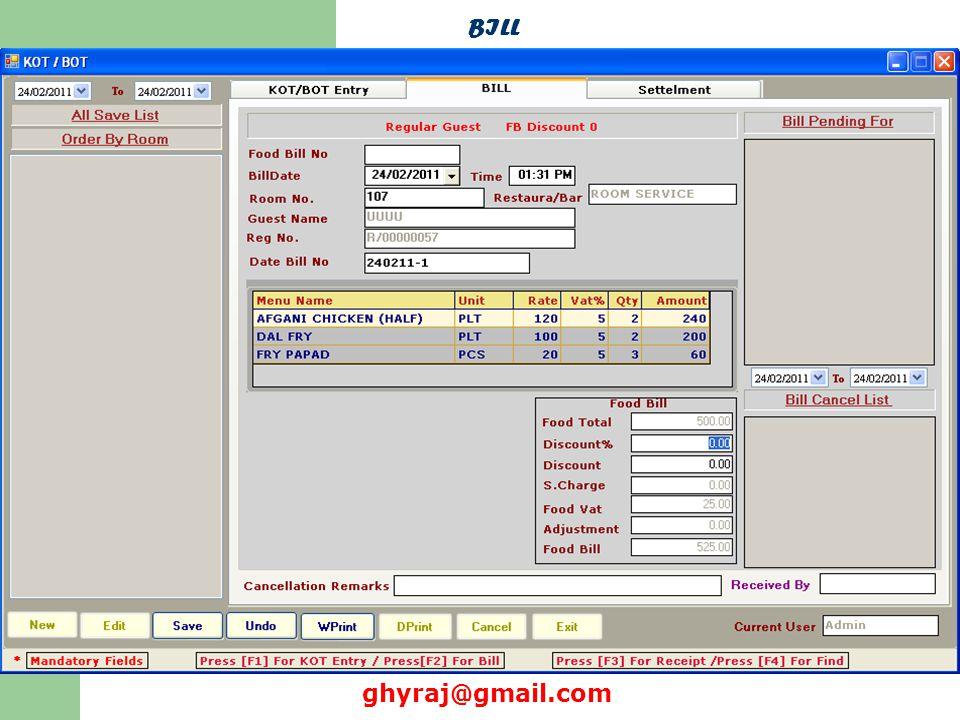 BILL ghyraj@gmail.com