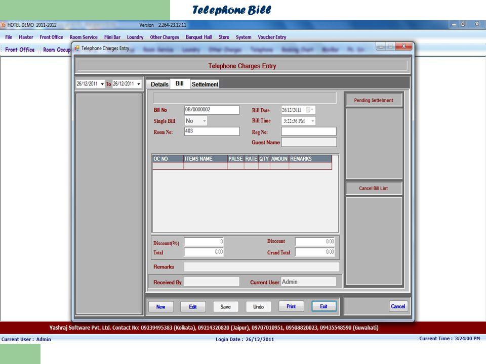 Telephone Bill
