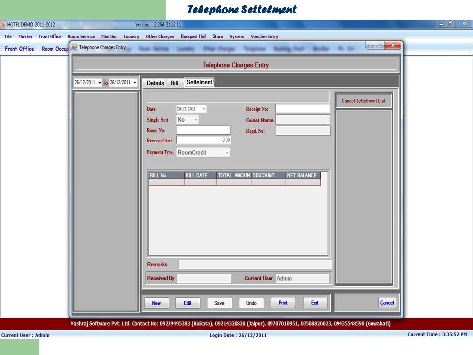 Telephone Settelment
