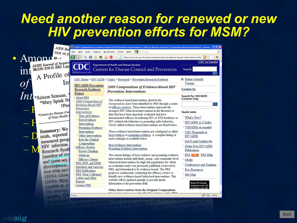 Need another reason for renewed or new HIV prevention efforts for MSM.