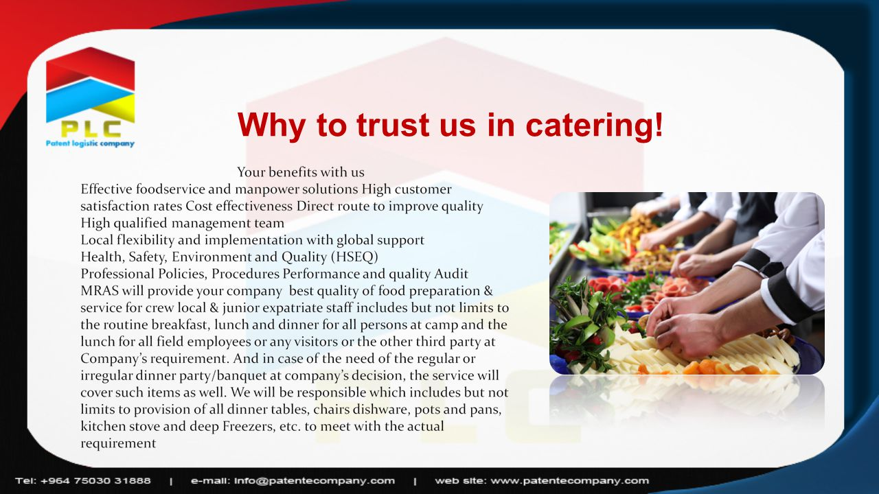 Why to trust us in catering!