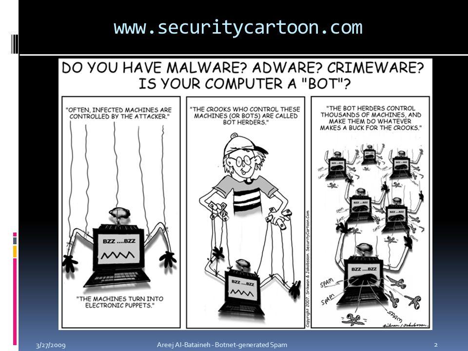 www.securitycartoon.com 3/27/2009Areej Al-Bataineh - Botnet-generated Spam 2