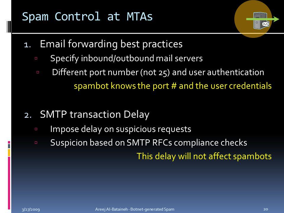 Spam Control at MTAs 1.